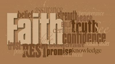 Christian Faith word montage