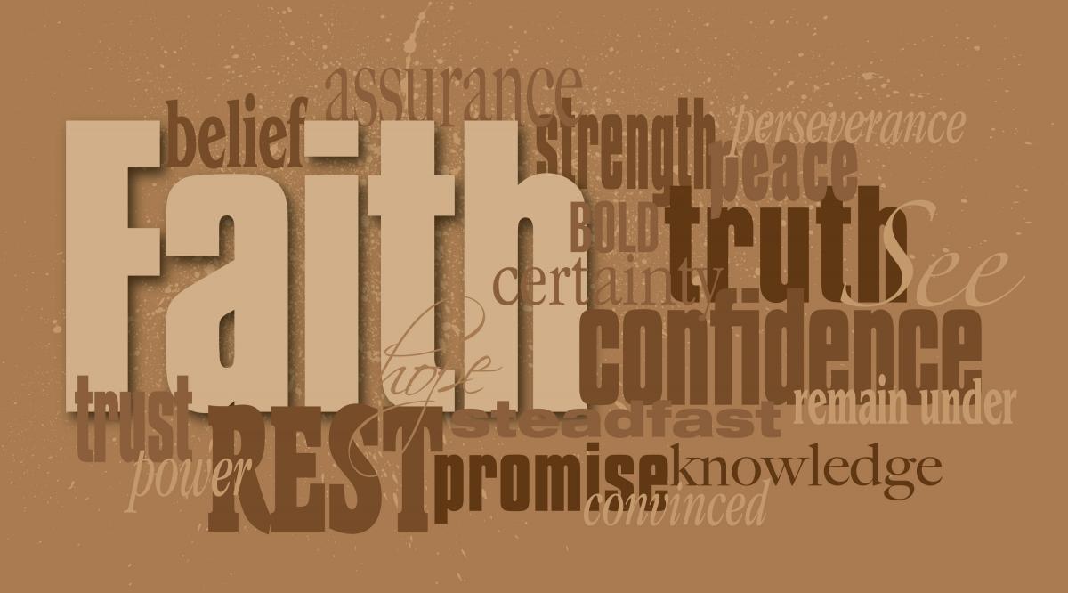 Christian Faith word montage